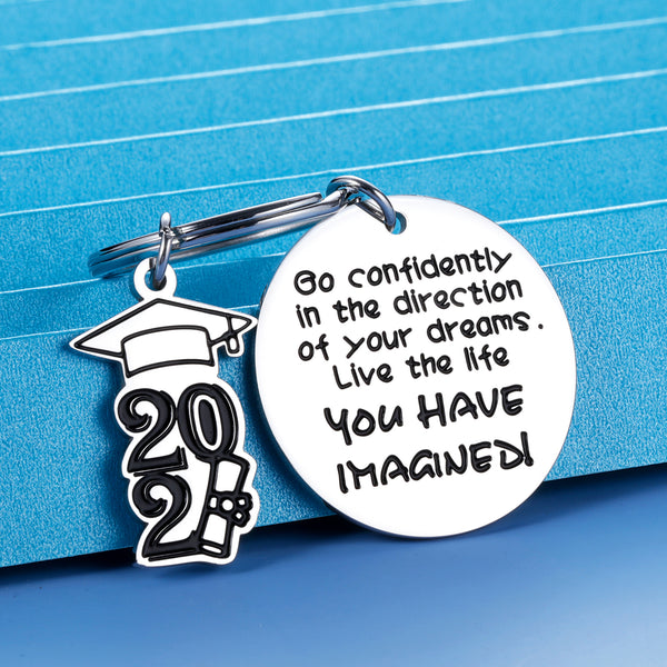 Graduation Gifts Keychain for Her Him 2021 High School Inspirational for College Senior Master Medical Nurse Student Graduation Birthday Nurses Day Christmas Perfect for Women Girls