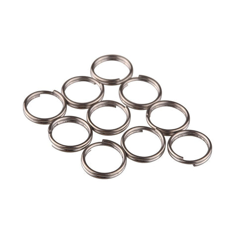 TI-EDC 10pcs Titanium Small Split Rings (10mm)