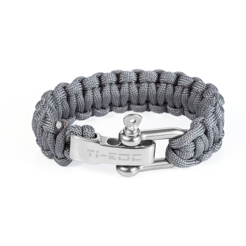 TI-EDC Handwoven Outdoor Paracord Survival Bracelet - Adjustable to Fit 7 to 8 inch Wrists