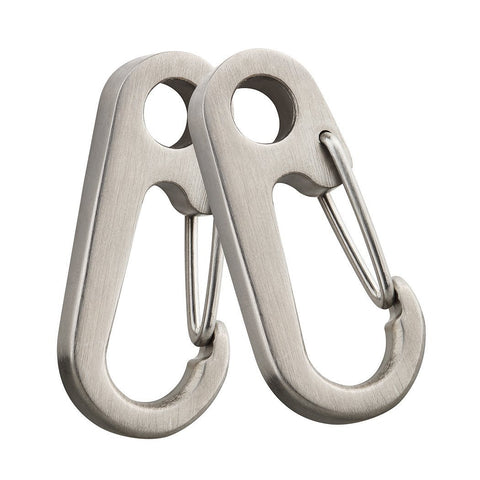TI-EDC Titanium High Strength 41mm Quick Release Keychain Carabiner Snap Hook (2pcs)
