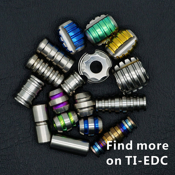 TI-EDC 5PCS Titanium 11mm Knife/Zipper Pull Jewelry Paracord / Lanyard Beads