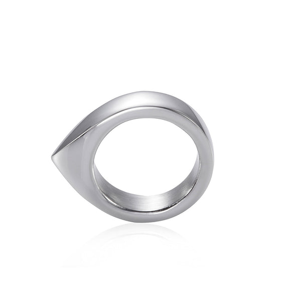 Handmade Stainless Steel Self Defense Survival Tool EDC Ring (silver)-SR11
