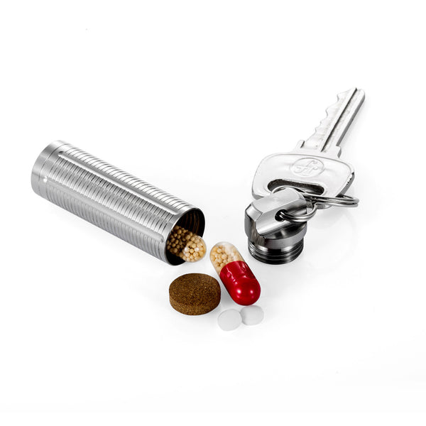 TI-EDC Titanium Slim Pill Fob - Emergency Aspirin & Nitro Pill Holder