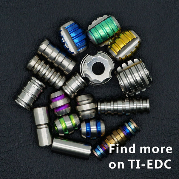 TI-EDC Titanium 15mm Bead for Keychain, Dagger, Knife Lanyard - 5.5mm Hole
