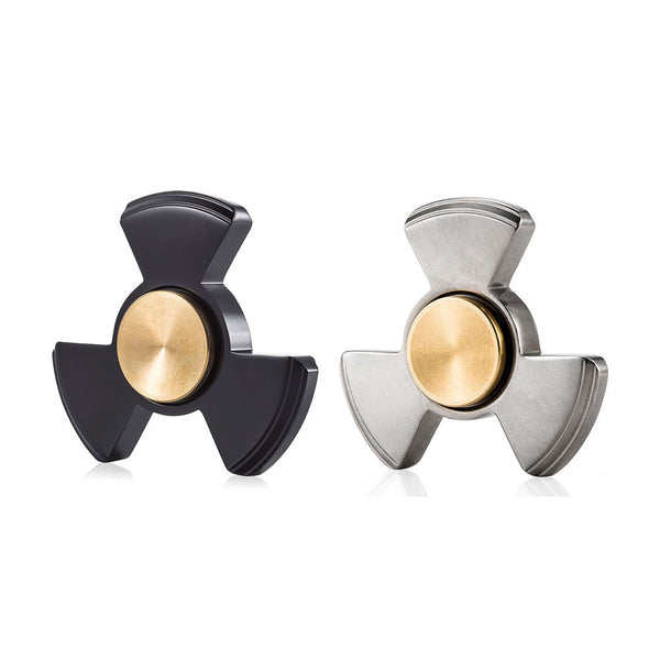 TI-EDC Fidget Spinner - Premium Titanium Tri-Spinner with Replaceable Hybrid Bearing - The Nucleus