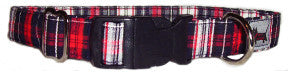 Black-n-Plaid Dog Collar