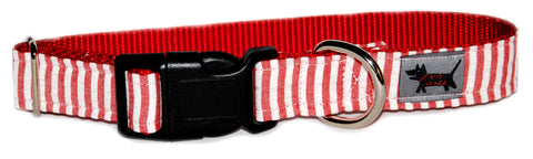 Candy Striper Dog Collar