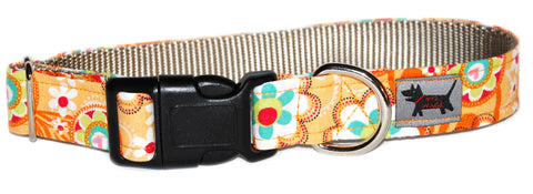 Early Autumn Breeze Martini Dog Collar