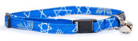 Hanukkah Kitty Cat Collar