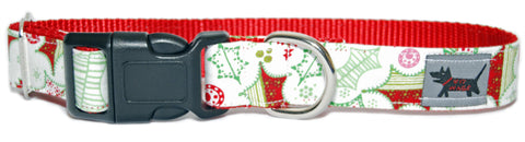 Holly Daze Dog Collar
