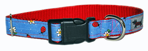Lovely Lady Bugs Dog Collar
