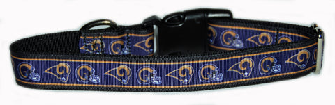 LA Rams NFL Dog Collar