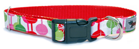 Retro Christmas Dog Collar