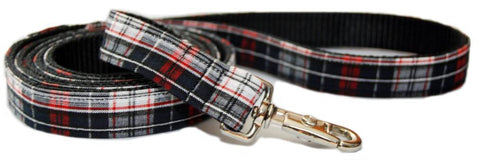 Black and Plaid Leash