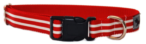 Santa's Stripes Dog Collar