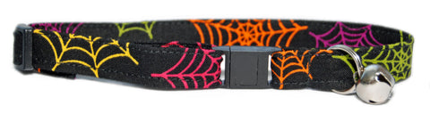 Psycho-delic Web Cat Collar