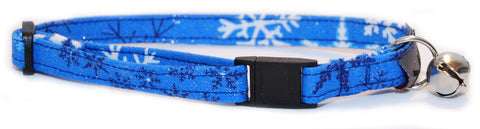 Winter Snowfall Cat Collar