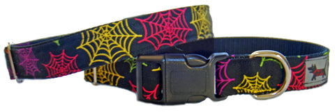 Psychodelic Web Dog Collar