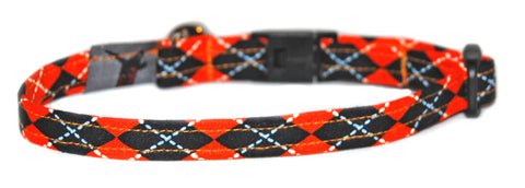 Kitty Halloween Argyle Cat Collar