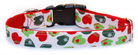 Christmas Mittens Dog Collar