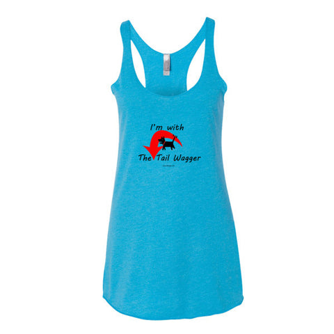 I'm with the Tail Wagger Women's tank top