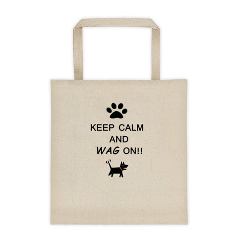 Keep Calm and Wag On!! Tote bag