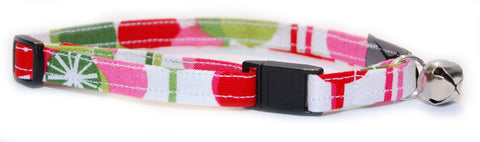 Retro Holiday Fun Cat Collar