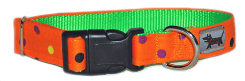 Witch's Polka Dot Dog Collar