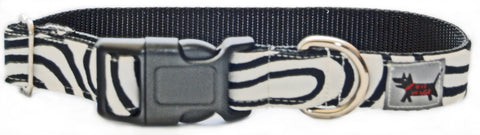 Zebra Stripe Dog Collar