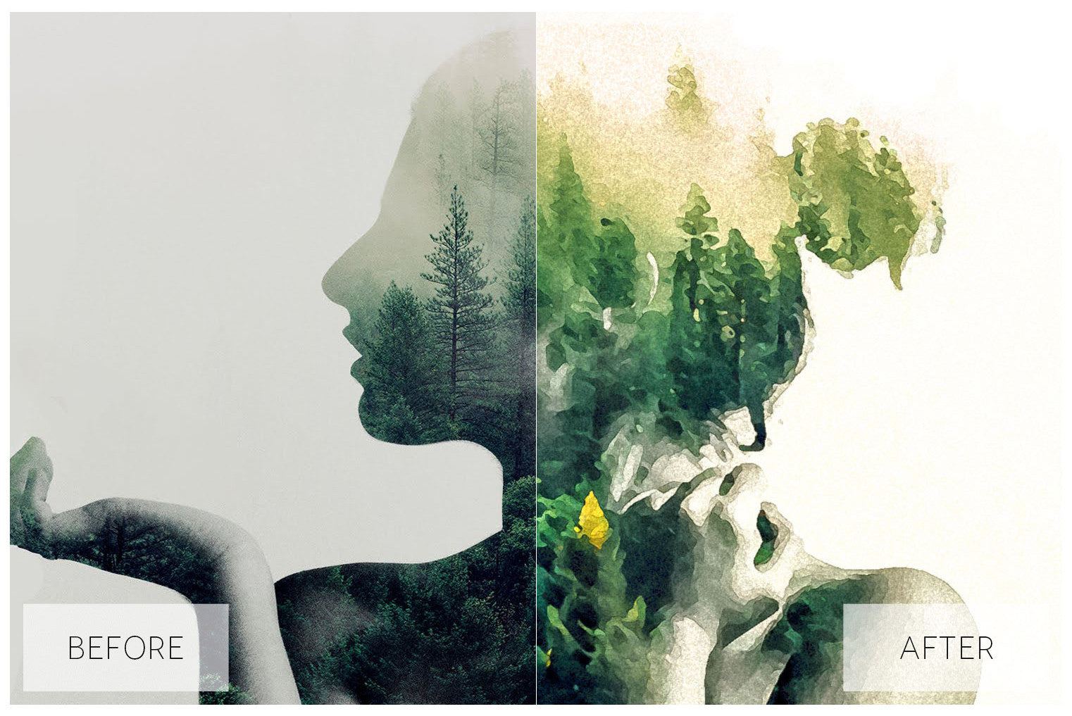 Lovely Watercolor Effect Actions - JasGraphicTools