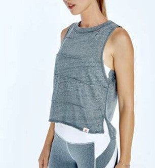 Vimmia Pacific Pintuck Muscle Tee- Heather Grey