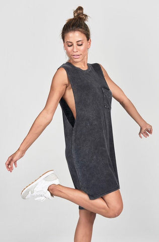 Joah Brown Easy Livin Dress; Graphite