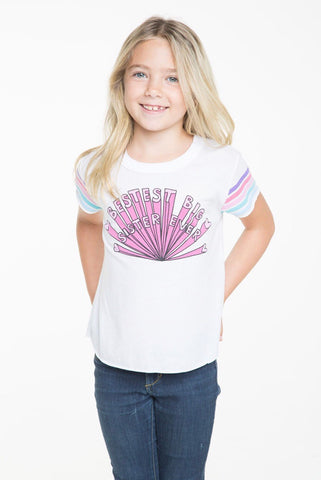 Chaser Big Sister Tee; White