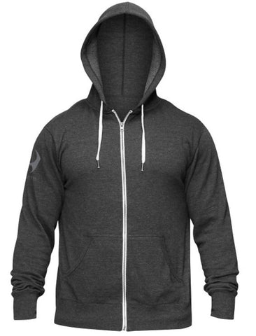 HYLETE Train Compete Live Zip Hoodie- Vintage Black/Cool Gray