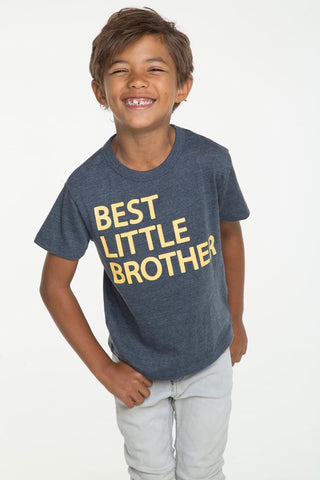 Chaser Little Brother Tee; Grey/Yellow