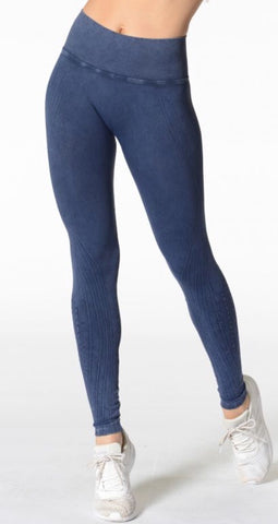 Nux- Mineral Wash Legging; Crown Blue