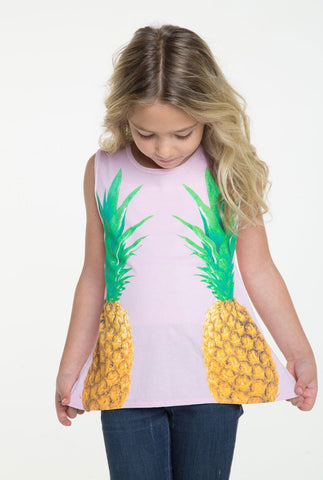 Chaser Mirrored Pineapples Tank; Pink