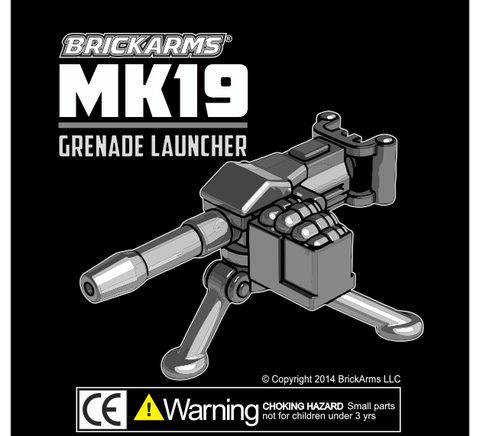 Brickarms MK19 Grenade Launcher Custom Lego Minifigure Weapon