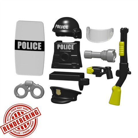 Police Riot Gear Tactical Brickforge Custom Lego Minifigure Accessory Pack