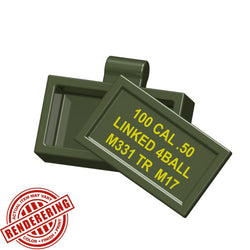 (3x) Army Green Ammo Case Brickforge Accessory for Lego Minifigures and MOCs