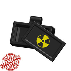 (3x) Brickforge Accessory Case w/ Yellow Radioactive Symbol for Lego Minifigures and MOCs