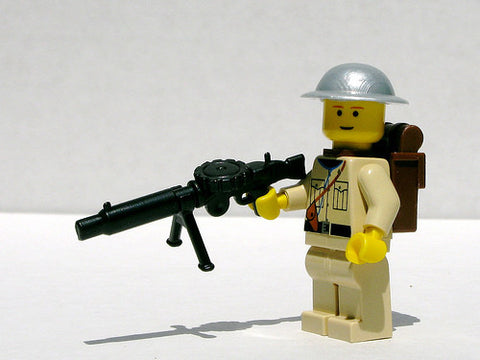 (3x) Lewis Gun Brickarms Lego Minifigure Accessory