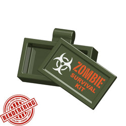 (3x) Zombie Survival Kit Accessory Case for Lego Minifigures and MOCs