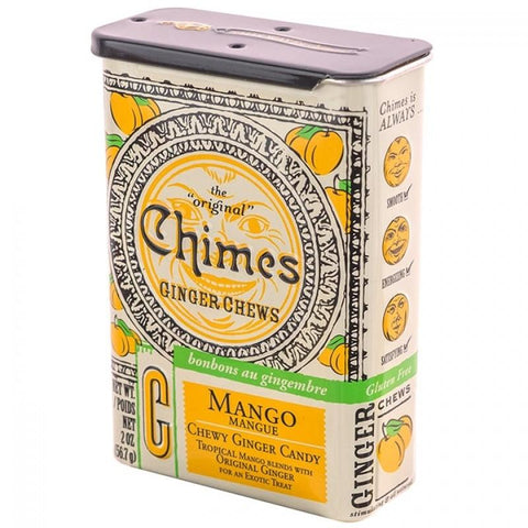 Chimes Mango Ginger Chews Candy Tin 2 oz