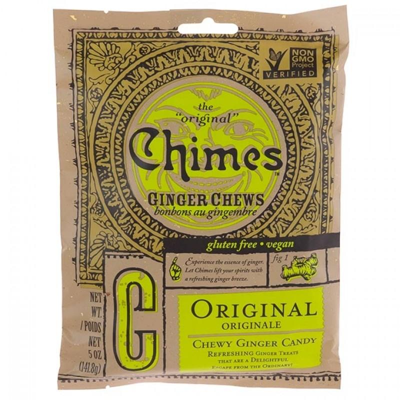 Chimes Original Ginger Chews Chewy Candy, 5 oz Chewy Chimes