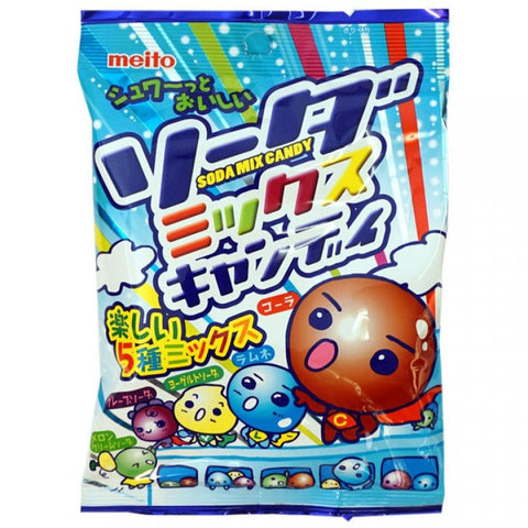 Meito soda hard candy japan ramune grape cola