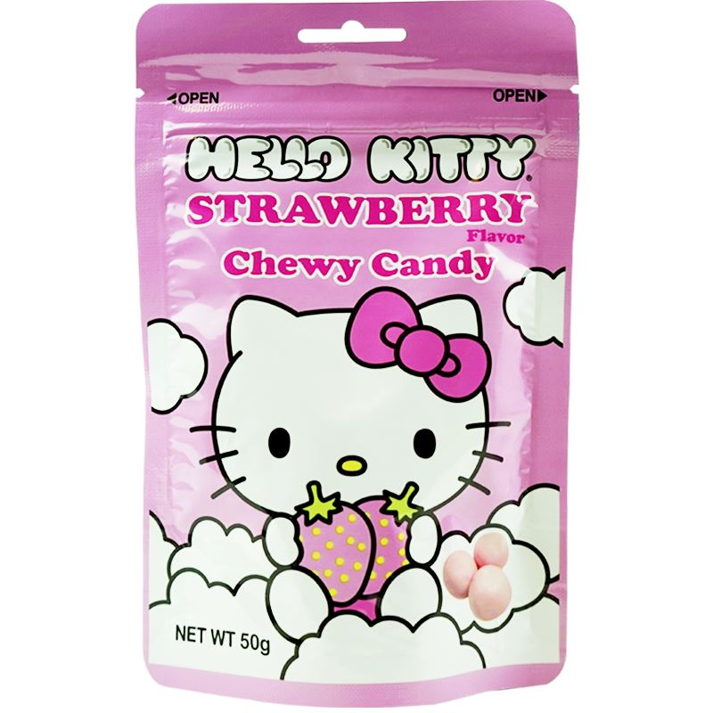 Hello Kitty Sanrio Chewy Candy Strawberry and Milk Flavors Chewy Sanrio Strawberry Milk