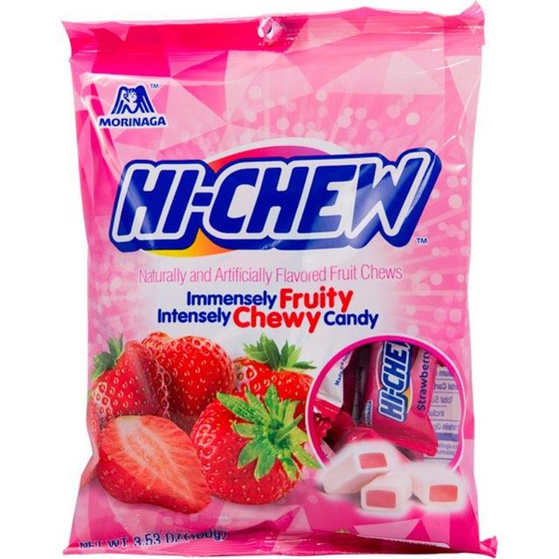 Hi Chew Candy Morinaga Strawberry Bag