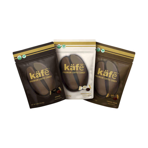 Käfē kafe organic coffee candy french vanilla caramel cream original