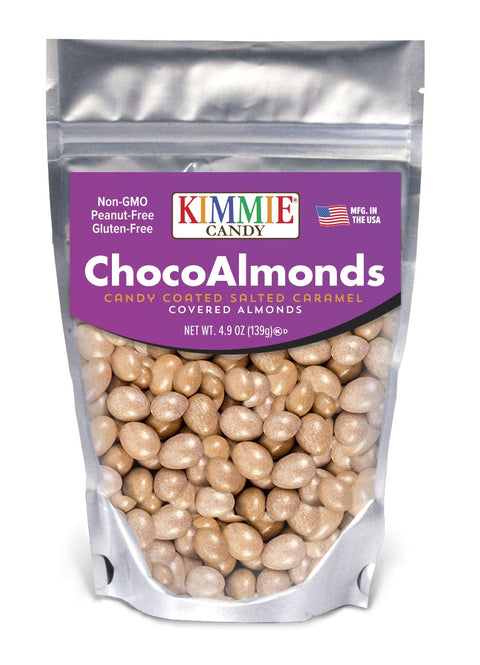 Kimmie Candy Salted Caramel ChocoAlmonds 4.9 oz Bag Seasonal Kimmie Candy